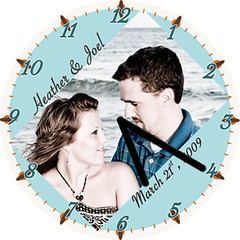 Heather & Joel Love Clock | by customclockface