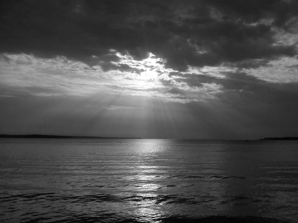 Black white sunset taken facing west standing on rattle flickr