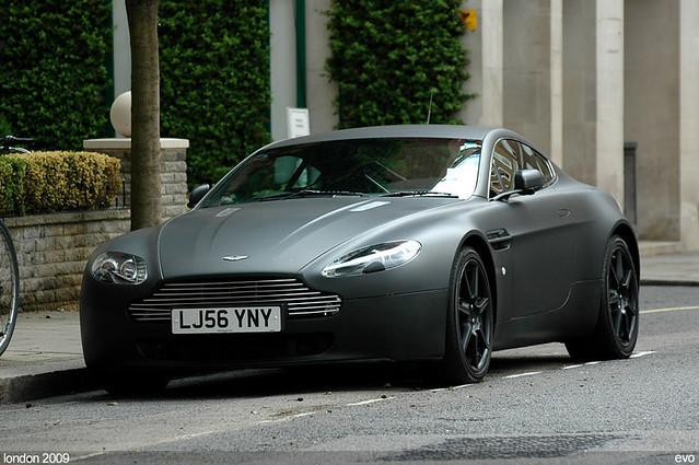 Aston Martin V8 Vantage Looks Nice In Matte Black Flickr
