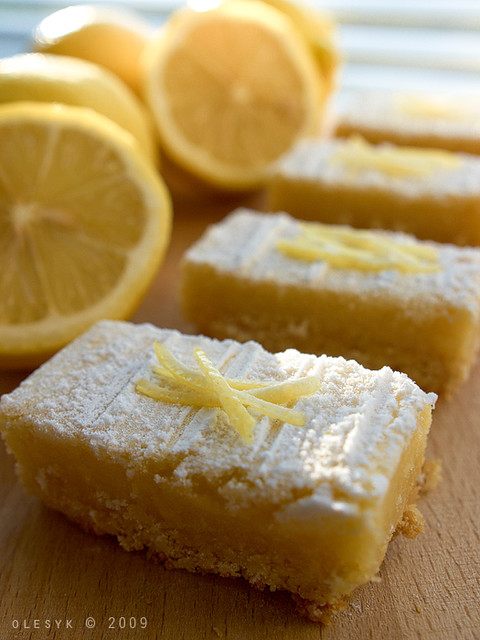 lemon bars & lemons