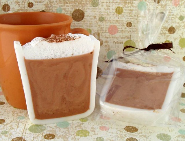 Hot Chocolate Loaf Soap Tutorial | Use a take out container