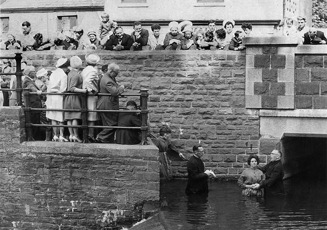BAPTISM. Afon Lliedi. 1963