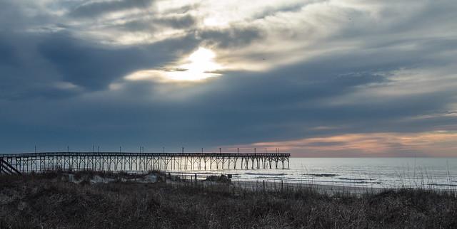 A cloudy sunrise