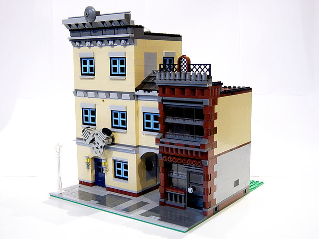 LEGO MOC Small Engine Repair Shop - Front View | Comments we