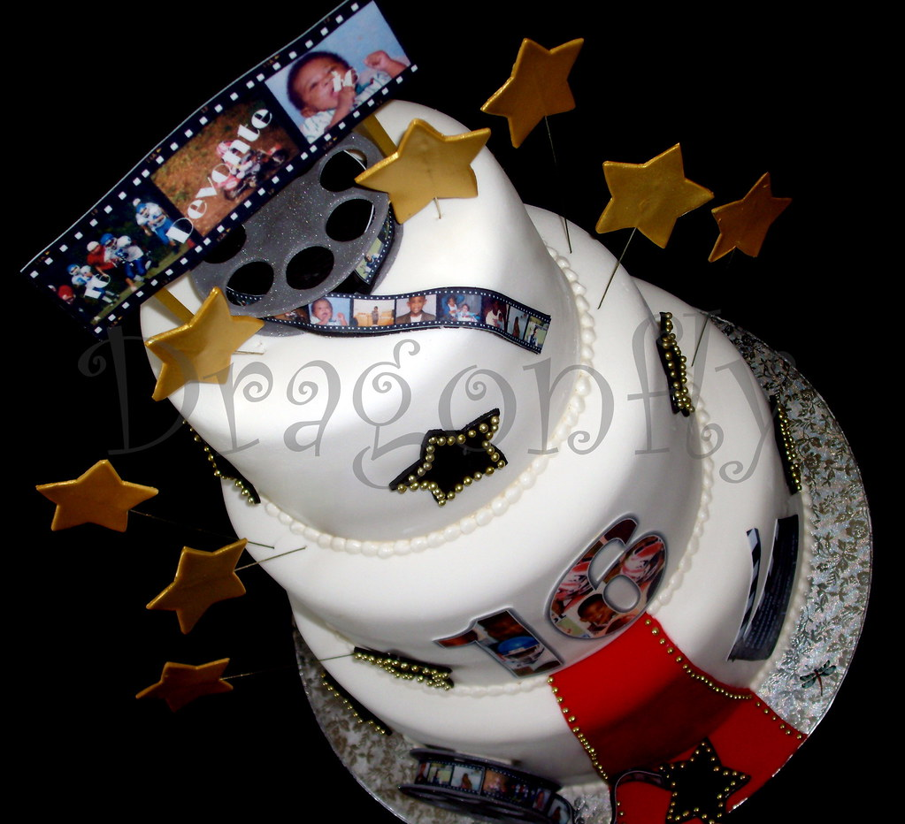 Amazing Hollywood Birthday Cake Hollywood Cake For The Sweetest Gi Flickr Funny Birthday Cards Online Alyptdamsfinfo