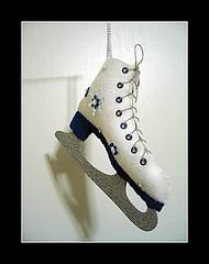 felt ice skate boot ornament | by kira-waldman