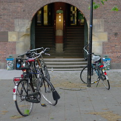 bicycles in front of WdKA entrance