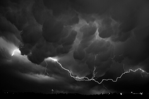 Mammatus Clouds & Lightning by Kevin Aker Photography