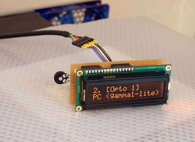 DIY: arduino LCD backpack | one of the user-defined ('named