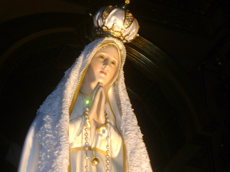 light from the rosary bead