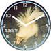 Abby White Skunk Clock