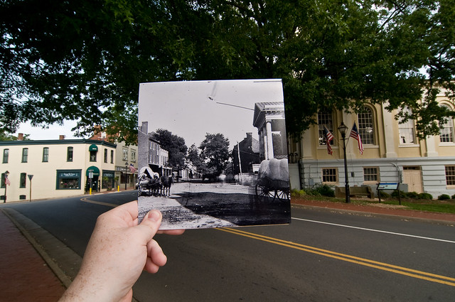 Looking Into the Past: Courthouse, Main St, Warrenton, VA