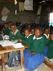Eleverne i skolen klar til undervisning