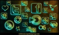 Webtreats Glowing Neon Social Medi Icons | by webtreats