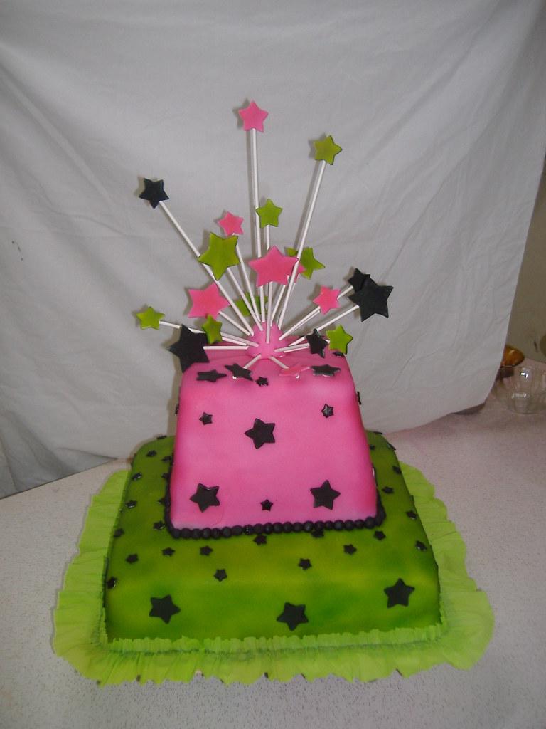 Magnificent Funky Birthday Cake Yasmin Charles Flickr Personalised Birthday Cards Arneslily Jamesorg