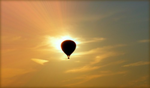 light sunset sky sun silhouette clouds fun eclipse hotair balloon arrow rays adventureous platinumheartaward