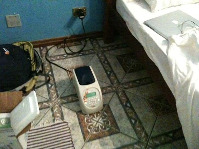 PCR on the hotel room floor