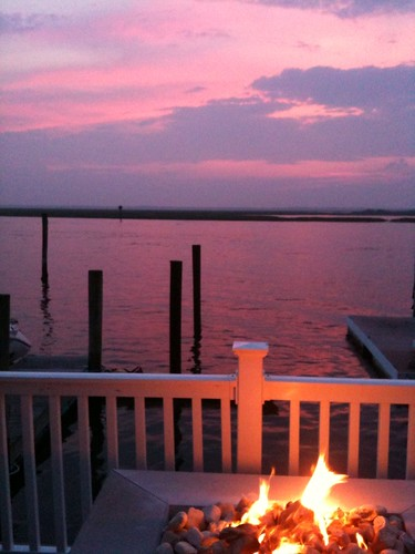 sunset newjersey firepit intercoastalwaterway stoneharbour