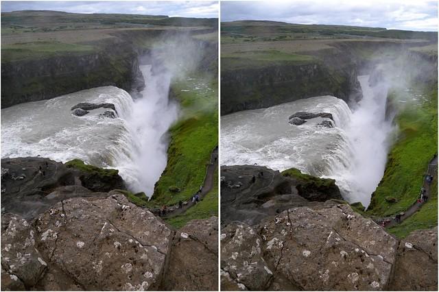 Gullfoss 3-D from Upper Falls