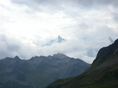 Mont Blanc and Aiguille du Midi
