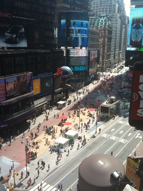 Times Square Pedestrian Plaza From Trl Roof Deck Would