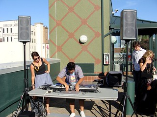 DJ Dayn & Becky Setting Up