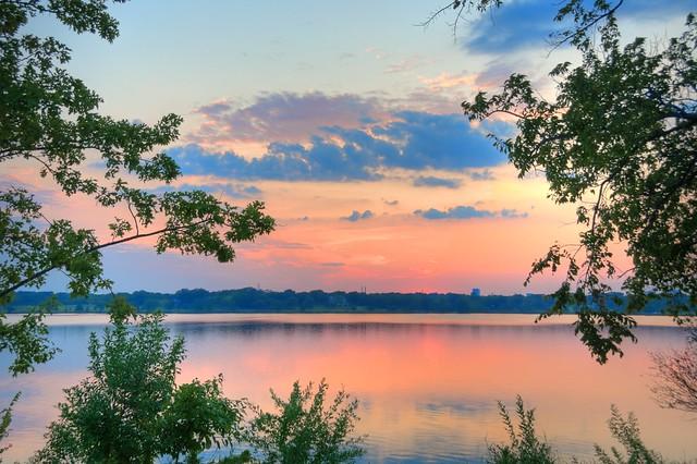 White Rock Lake Sunset - #4277_8_9