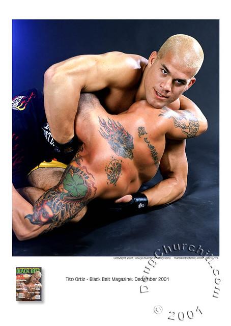 Tito Ortiz • December 2001 Black Belt magazine cover