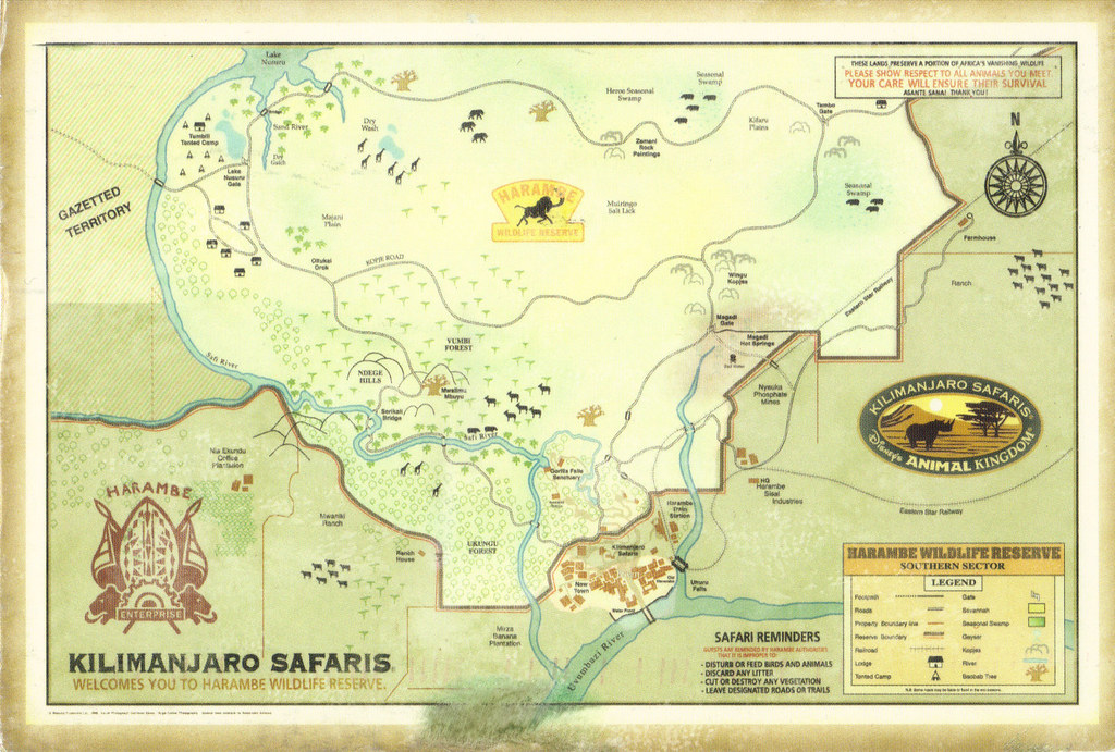Disney Animal Kingdom Map Postcard   RAS from 9teen87 (USA ...