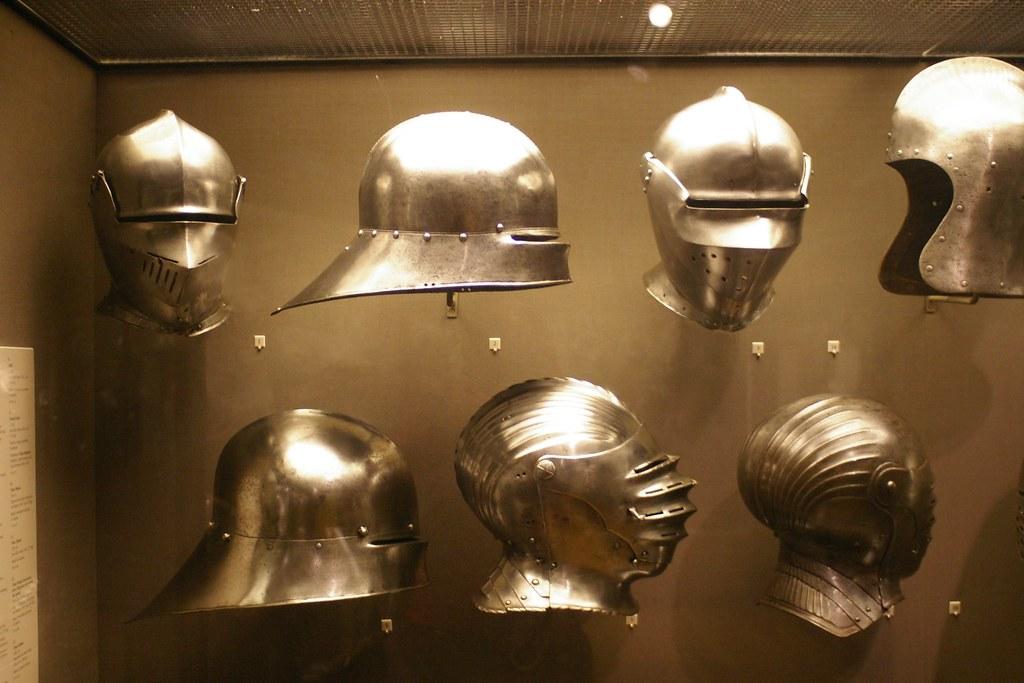 Helmets | Top-to-bottom, Left-to-right: Armet, Sallet, Armet