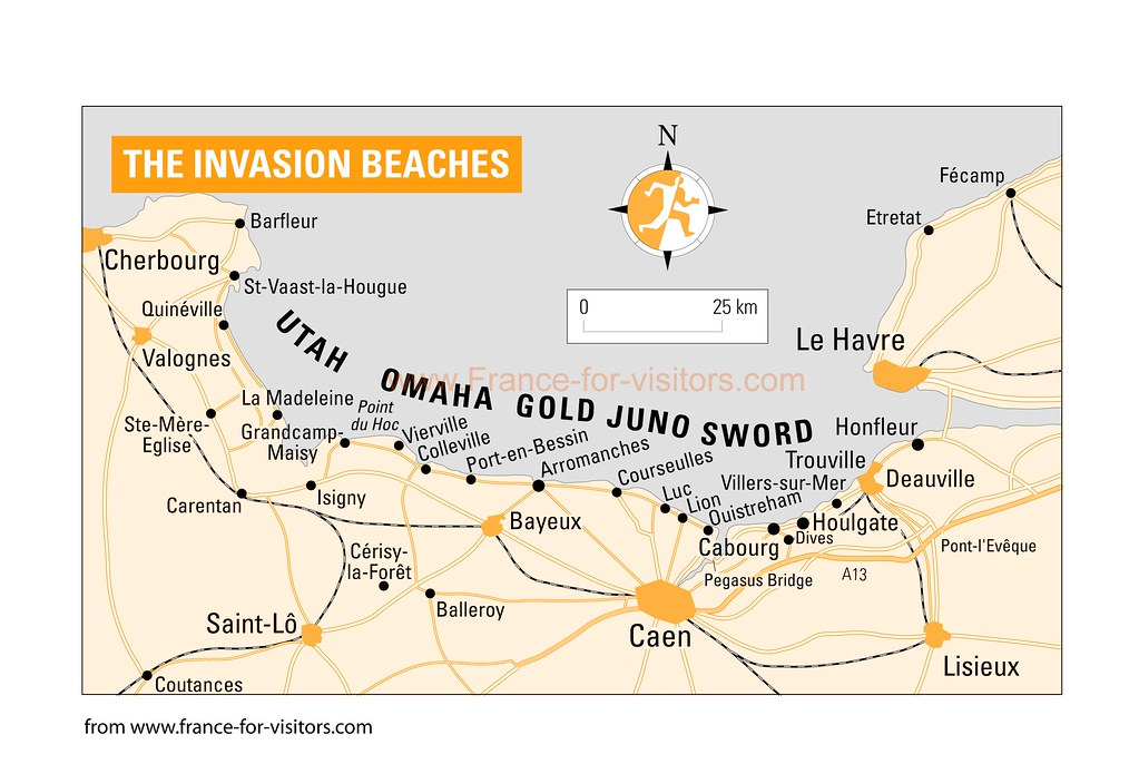 D Day Map on