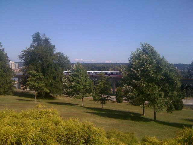 SkyTrain seen from Grimston Park