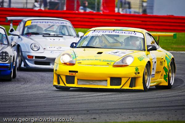 Porsches Racing at Silverstone