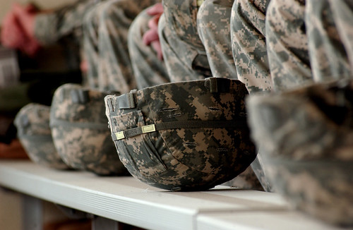 Army combat helmets | by The U.S. Army