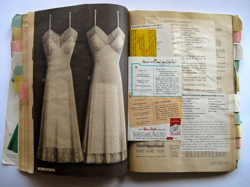 Inside the Montgomery Ward recipe scrapbook