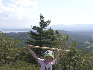 Elizabeth at the summit of Coon Mountain | by Kathryn Cramer