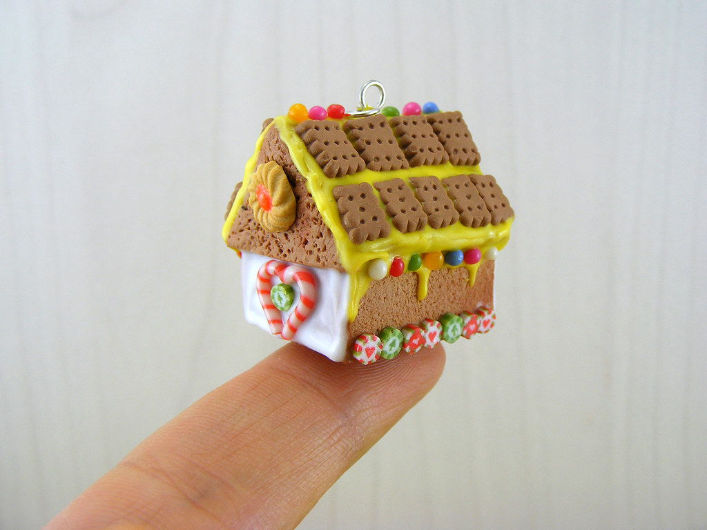 Miniature Gingerbread House Charm