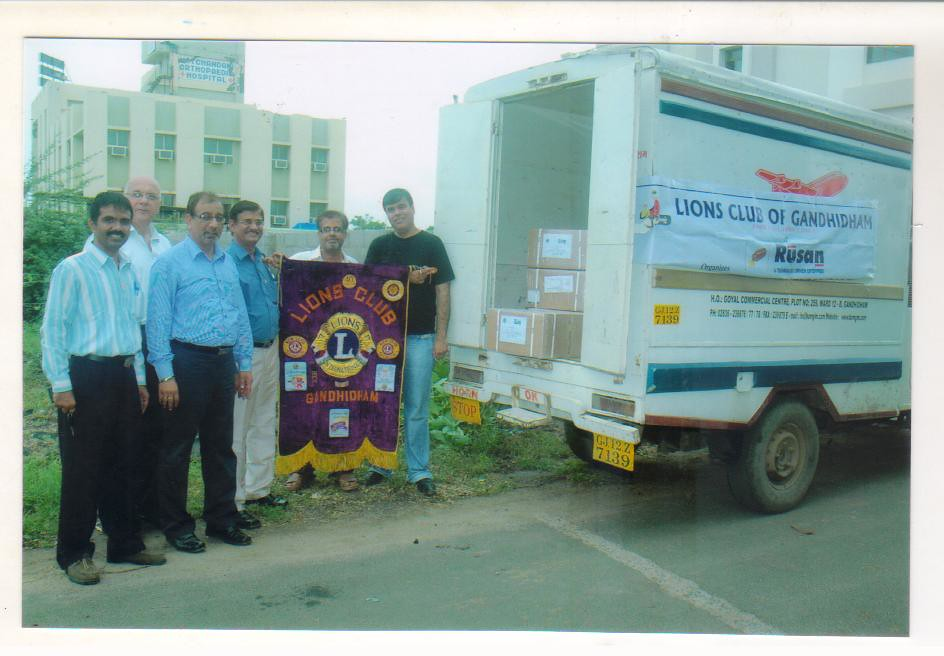 Lions Club of Gandhidham with the concerted help of M/s  R