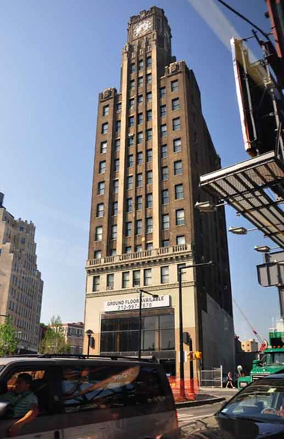 Bank of the Manhattan clock tower, Queens Plaza, Long Island City.