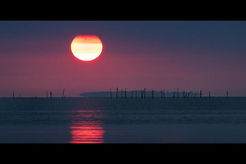 morning reflection history sunrise island dawn fishing maryland maritime chesapeake chesapeakebay poplarisland poundnet