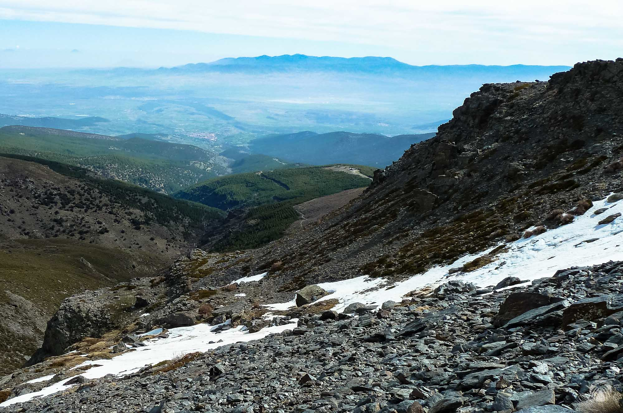 Vistas hacia Jérez del Marquesado y la sierra de Baza al fondo