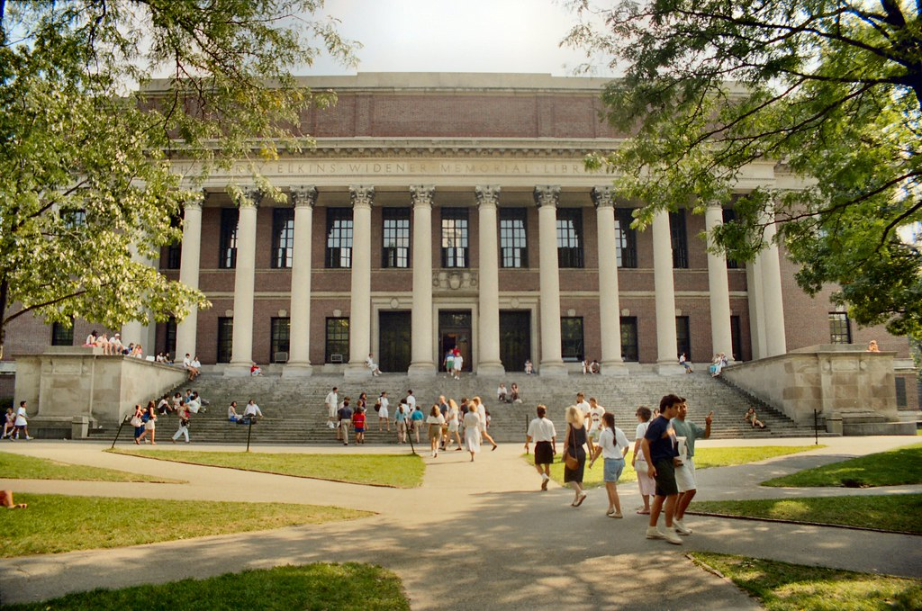 P_30 Cambridge - The Widener Library (1915) - Harvard University - Massachusetts