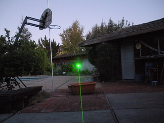 "Wicked Lasers ""Spyder I Pro"" laser - outdoor beam shot #1 