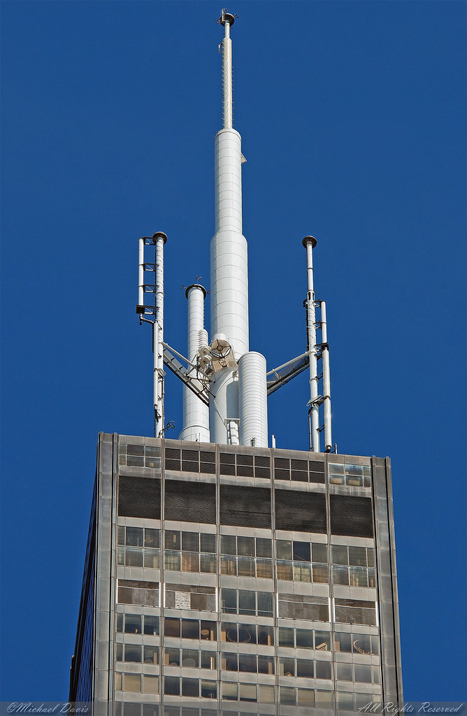 Willis Tower Sears Tower Crown Mast A Look Up At T