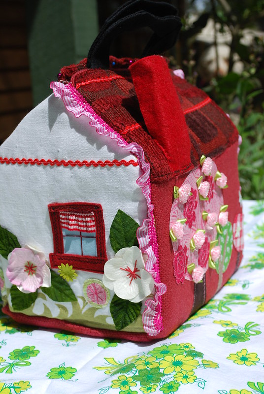 Maeve's fabric dolls house