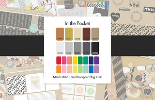 March 2017 Pixel Scrapper Blog Train - In the Pocket | by Pixel Scrapper