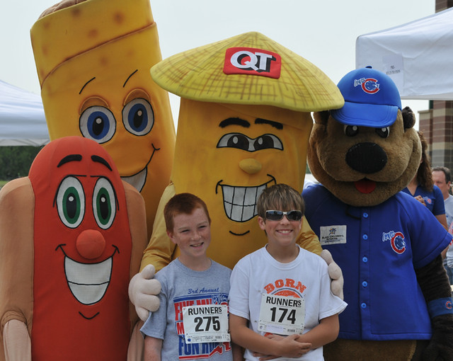 cheese  quiktrip roller grill mascots hot dog taquito