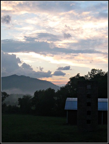 mountains barn sunrise nc asheville northcarolina silo 5photosaday