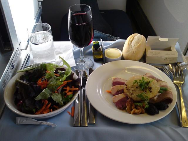 In-flight meal appetizer