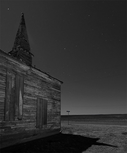 abandoned church night town texas ghost ceevee